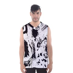 Pattern Color Painting Dab Black Men s Basketball Tank Top