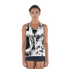 Pattern Color Painting Dab Black Women s Sport Tank Top