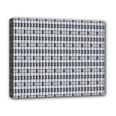 Pattern Grid Squares Texture Deluxe Canvas 20  x 16