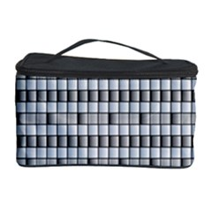 Pattern Grid Squares Texture Cosmetic Storage Case