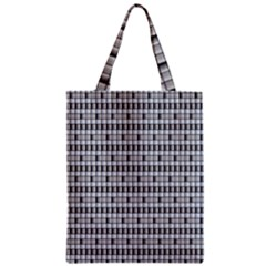 Pattern Grid Squares Texture Zipper Classic Tote Bag