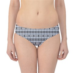 Pattern Grid Squares Texture Hipster Bikini Bottoms