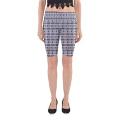 Pattern Grid Squares Texture Yoga Cropped Leggings
