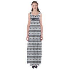 Pattern Grid Squares Texture Empire Waist Maxi Dress