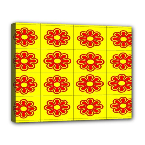 Pattern Design Graphics Colorful Canvas 14  X 11