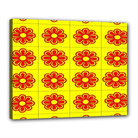 Pattern Design Graphics Colorful Canvas 20  x 16