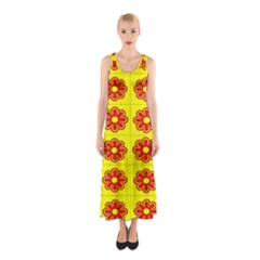 Pattern Design Graphics Colorful Sleeveless Maxi Dress