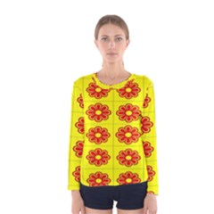 Pattern Design Graphics Colorful Women s Long Sleeve Tee