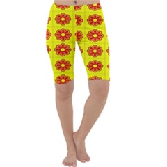 Pattern Design Graphics Colorful Cropped Leggings