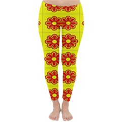 Pattern Design Graphics Colorful Classic Winter Leggings