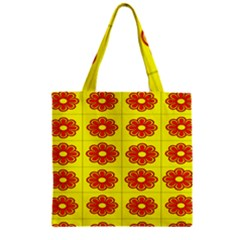 Pattern Design Graphics Colorful Zipper Grocery Tote Bag