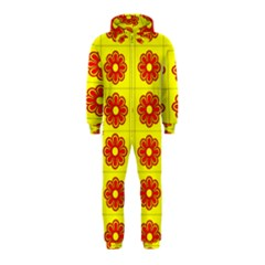Pattern Design Graphics Colorful Hooded Jumpsuit (Kids)
