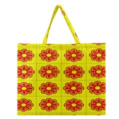 Pattern Design Graphics Colorful Zipper Large Tote Bag