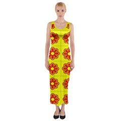 Pattern Design Graphics Colorful Fitted Maxi Dress
