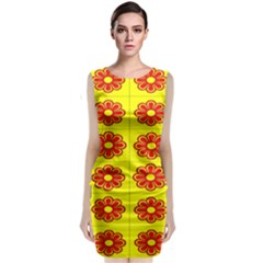 Pattern Design Graphics Colorful Classic Sleeveless Midi Dress