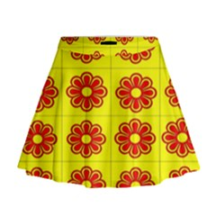 Pattern Design Graphics Colorful Mini Flare Skirt