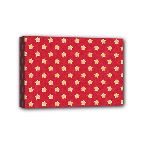 Pattern Felt Background Paper Red Mini Canvas 6  x 4