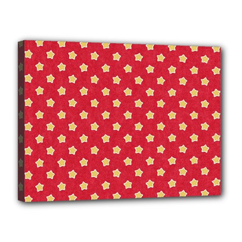 Pattern Felt Background Paper Red Canvas 16  x 12