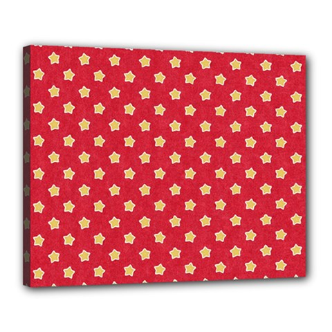 Pattern Felt Background Paper Red Canvas 20  x 16