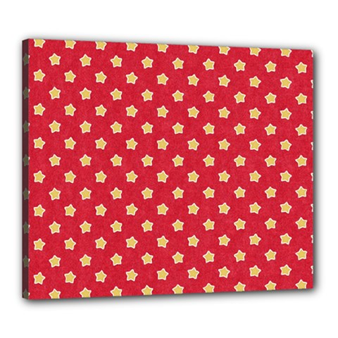 Pattern Felt Background Paper Red Canvas 24  x 20