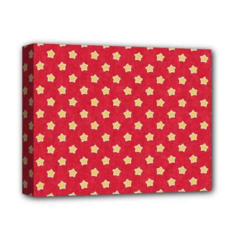 Pattern Felt Background Paper Red Deluxe Canvas 14  X 11