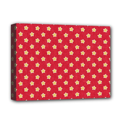 Pattern Felt Background Paper Red Deluxe Canvas 16  x 12