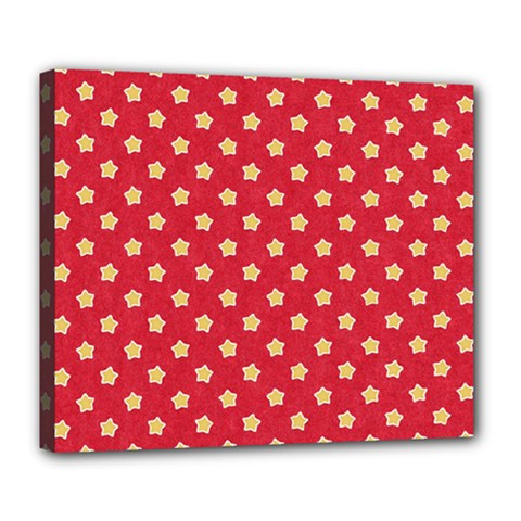 Pattern Felt Background Paper Red Deluxe Canvas 24  X 20