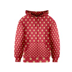 Pattern Felt Background Paper Red Kids  Zipper Hoodie