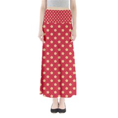 Pattern Felt Background Paper Red Maxi Skirts