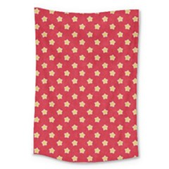 Pattern Felt Background Paper Red Large Tapestry