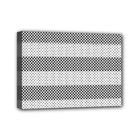 Pattern Half Tone Mini Canvas 7  X 5