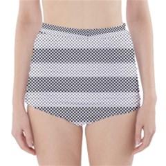 Pattern Half Tone High Waisted Bikini Bottoms