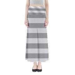 Pattern Half Tone Maxi Skirts
