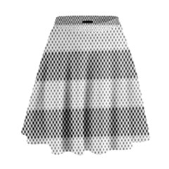 Pattern Half Tone High Waist Skirt