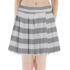 Pattern Half Tone Pleated Mini Skirt
