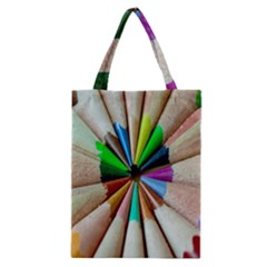 Pen Crayon Color Sharp Red Yellow Classic Tote Bag