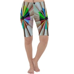 Pen Crayon Color Sharp Red Yellow Cropped Leggings