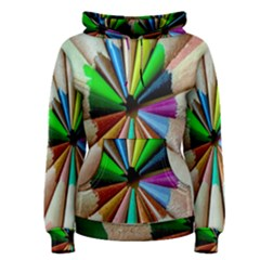 Pen Crayon Color Sharp Red Yellow Women s Pullover Hoodie