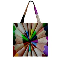 Pen Crayon Color Sharp Red Yellow Zipper Grocery Tote Bag