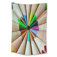Pen Crayon Color Sharp Red Yellow Large Tapestry