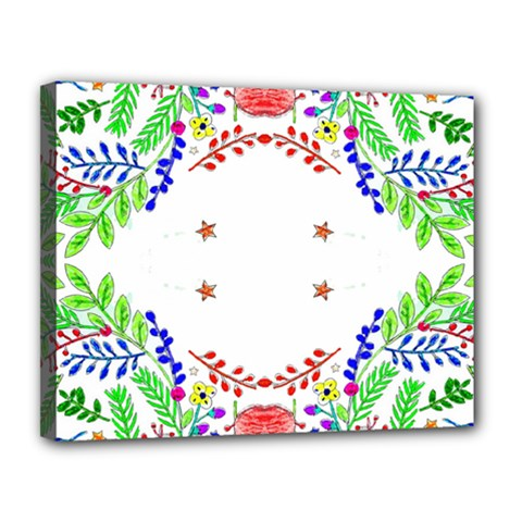 Holiday Festive Background With Space For Writing Canvas 14  x 11