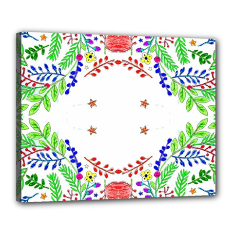 Holiday Festive Background With Space For Writing Canvas 20  x 16