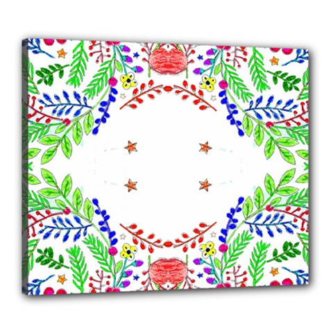 Holiday Festive Background With Space For Writing Canvas 24  X 20