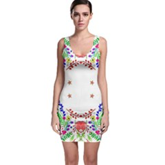 Holiday Festive Background With Space For Writing Sleeveless Bodycon Dress