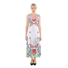 Holiday Festive Background With Space For Writing Sleeveless Maxi Dress