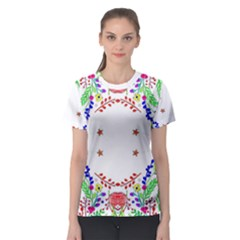 Holiday Festive Background With Space For Writing Women s Sport Mesh Tee