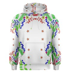 Holiday Festive Background With Space For Writing Men s Pullover Hoodie