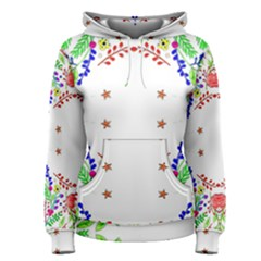 Holiday Festive Background With Space For Writing Women s Pullover Hoodie