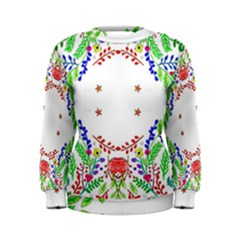 Holiday Festive Background With Space For Writing Women s Sweatshirt
