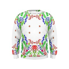 Holiday Festive Background With Space For Writing Kids  Sweatshirt